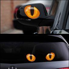 """Автомобильный стикер на зеркала """"Кошачий глаз"""""""