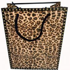 """Пакет подарочный """"Пятна Леопарда"""" 18x23x10 см """"HP-900"""""""