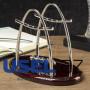 Антистресс маятник Ньютона на овальной подставке, средний, цвет бордовый