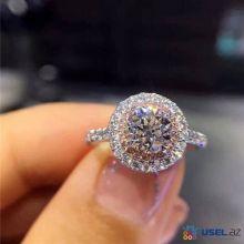 Женское кольцо с цирконом Wedding sterling silver CC S925