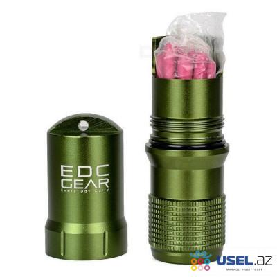 Металлический водонепроницаемый контейнер-капсула EDC Gear