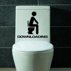 "Водонепроницаемая наклейка для туалета ""DOWNLOADING"""