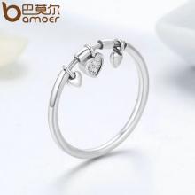 Женское кольцо BAMOER из стерлингового серебра