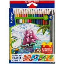 """Карандаши цветные 18 цветов Berlingo """"Корабли"""""""