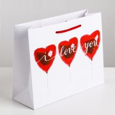 "Vertical laminated bag ""Love is everywhere"""
