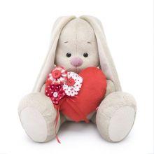 """Мягкая игрушка """"Зайка Ми с красным сердечком"""", 23 см"""