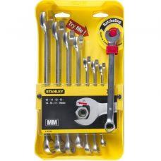 """Набор комбинированных ключей Stanley 4-95-660 """"Ratcheting Wrench"""" 10-19 мм"""