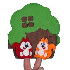 """Развивающая книжка чудо-дом """"Дерево"""" с пальчиковыми игрушками"""