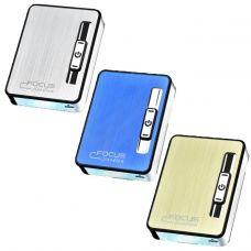 Портсигар + USB зажигалка Focus Elegant