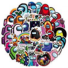 Наклейки виниловые Among Us Stickers
