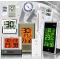 Thermometers, hygrometers, barometers