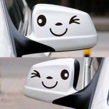 "Стикер на автомобиль, на боковые зеркала ""Smile face"""