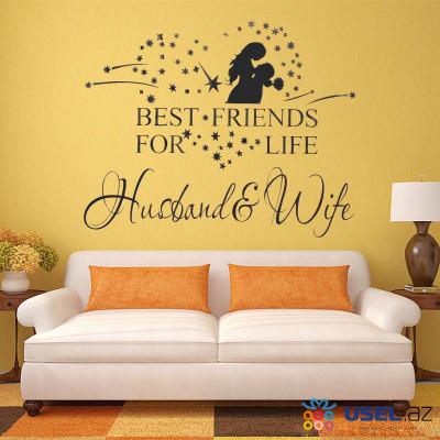 "Интерьерная наклейка на стену ""Husband & Wife"""