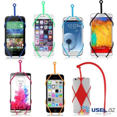 Mobil telefon üçün universal silikon tutacağı