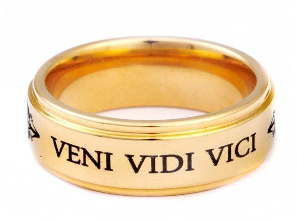 Кольцо Цезаря Veni Vidi Vici