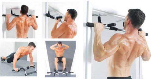 Домашний турник тренажер в дверной проем IRON Gym USA