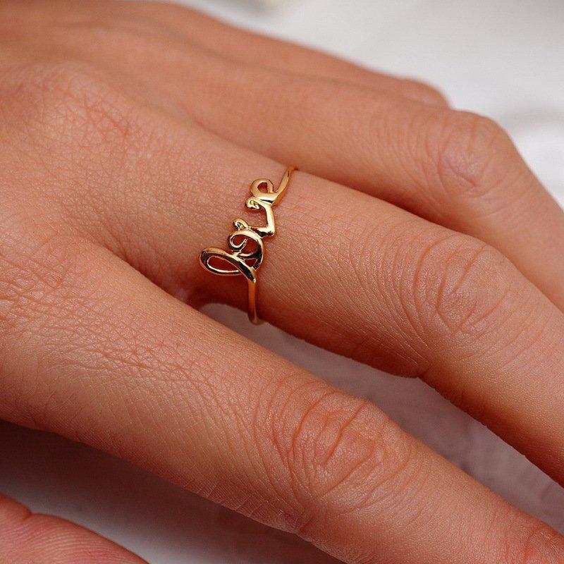Двухстороннее кольцо Love