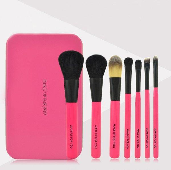 Набор кистей для макияжа 7-в-1 в железном кейсе Make Up For You