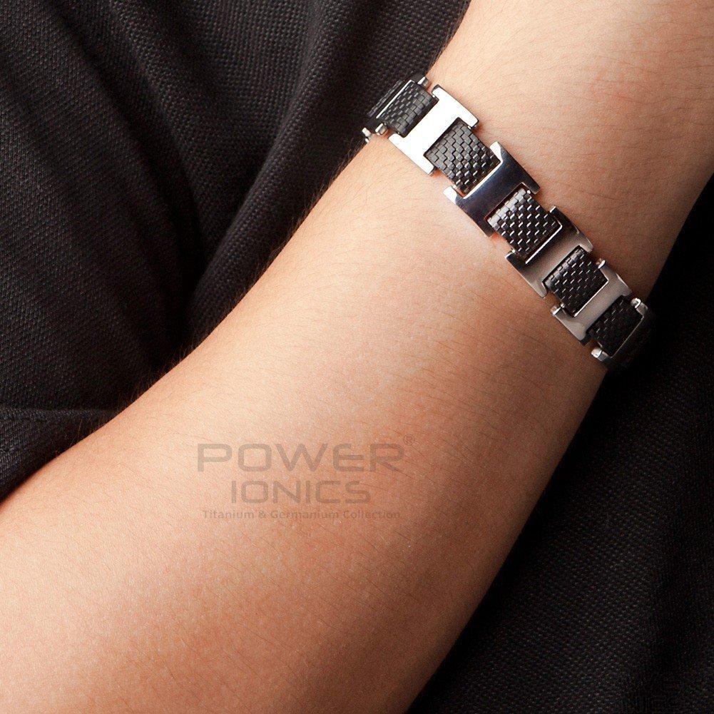 Мужской титановый браслет Power Ionics PT024 с германиевыми шариками