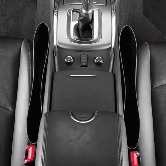 Автомобильный карман-органайзер между сиденьем и консолью