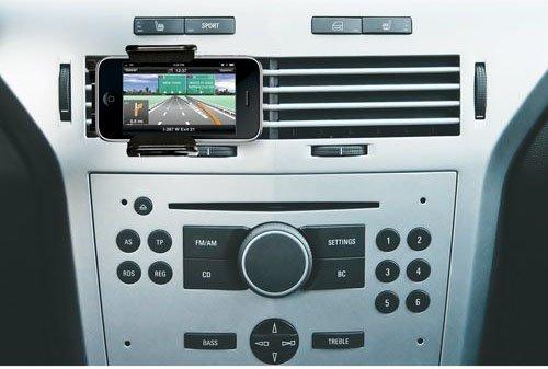 Автомобильный держатель для iPhone 5 / 4S / 4 / 3G, черный.