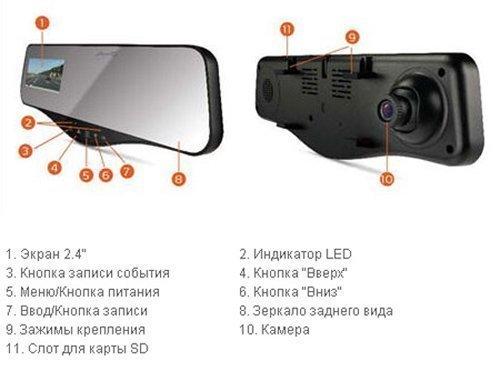 Зеркало заднего вида с авторегистоатором Mio MiVue R25
