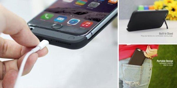 4200mAh Кейс + перезаряжаемое внешнее зарядное устройство для IPhone 6 / 6 Plus