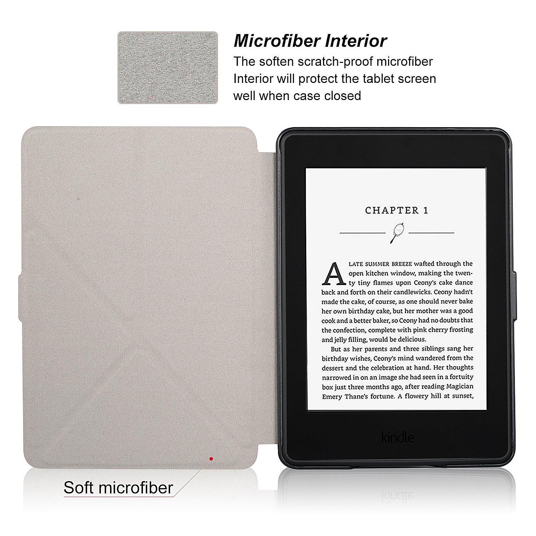 Смарт обложка кожный чехол WIZFUN для Kindle Paperwhite