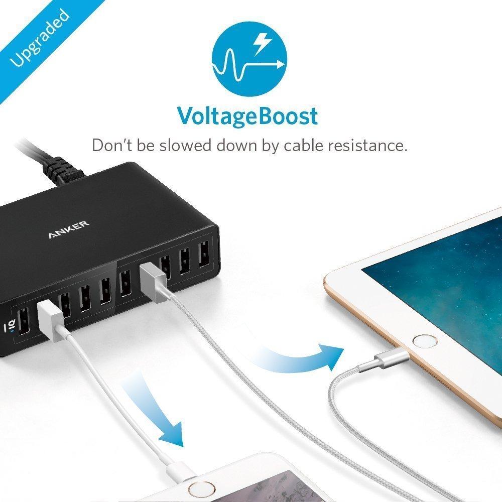 USB 60W 10-портовый Hub Anker Мульти Port