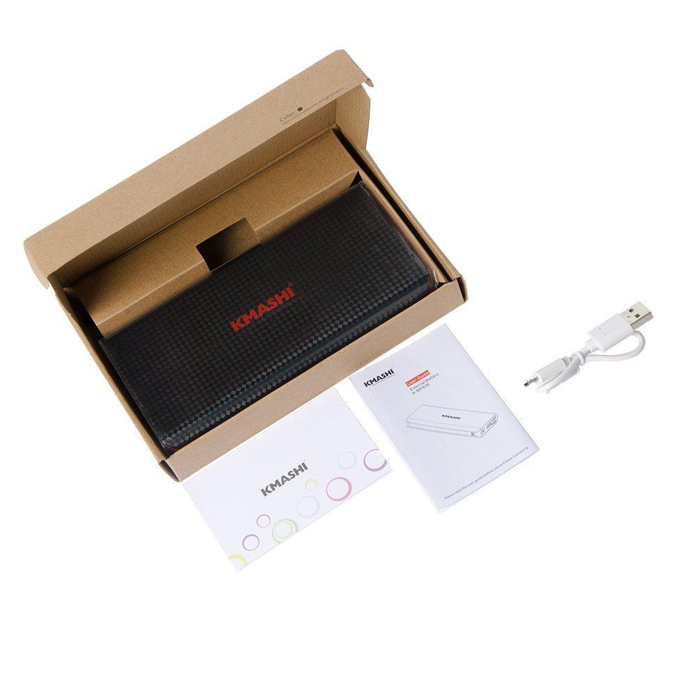 Внешний портативный аккумулятор KMASHI 15000mAh Dual USB Output / 2A Input