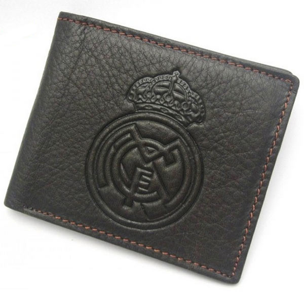 Кожаный кошелек с эмблемой ФК Real Madrid