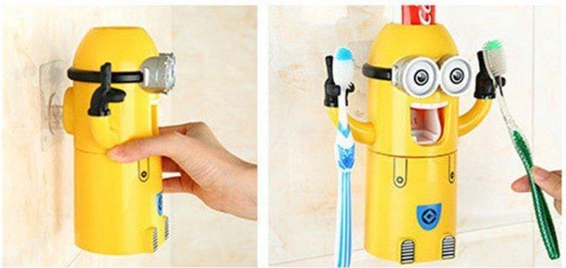 """Автоматический дозатор зубной пасты и держатель зубных щеток """"Despicable Me"""""""