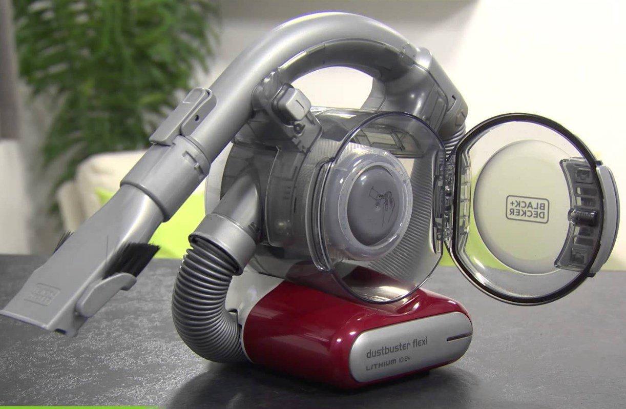 аккумуляторный пылесос с встроенным 1,5 метровым гибким шлангом