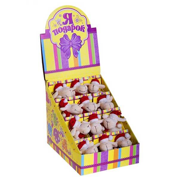"""Мягкая игрушка - брелок """"Овечка"""" Новый год, в коробочке"""