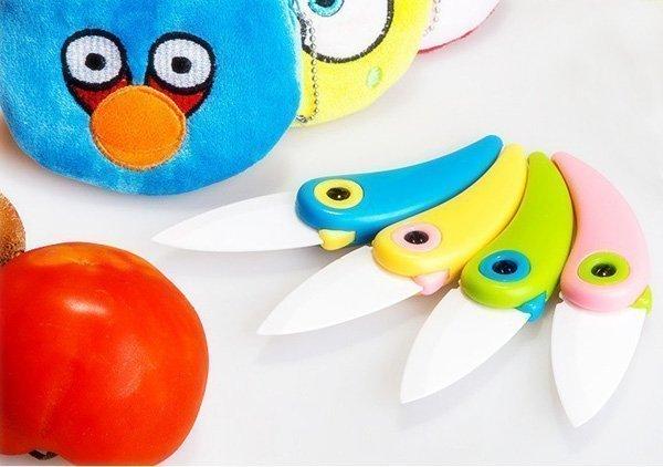Складной керамический кухонный нож в виде симпатичной птички
