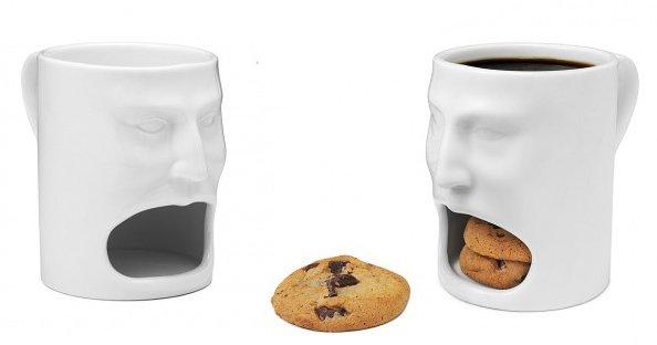 Кружка с местом для печенья Face Mug