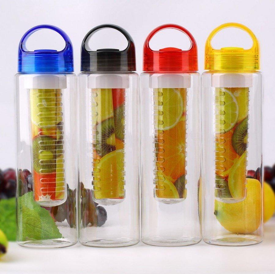Бутылка для воды с контейнером для фруктов 800 мл