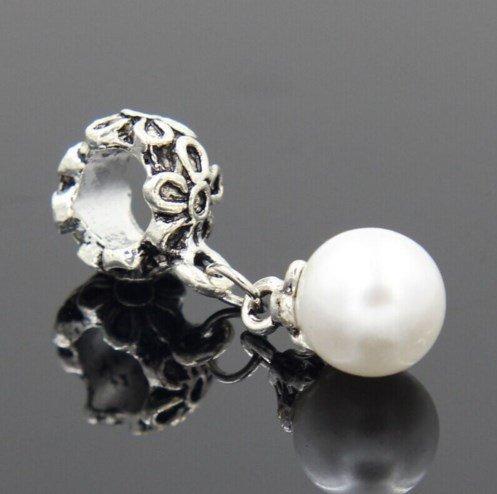 """Серебряное покрытие 925 проба подвеска-шарма для Pandora """"Venetian Pearl"""""""