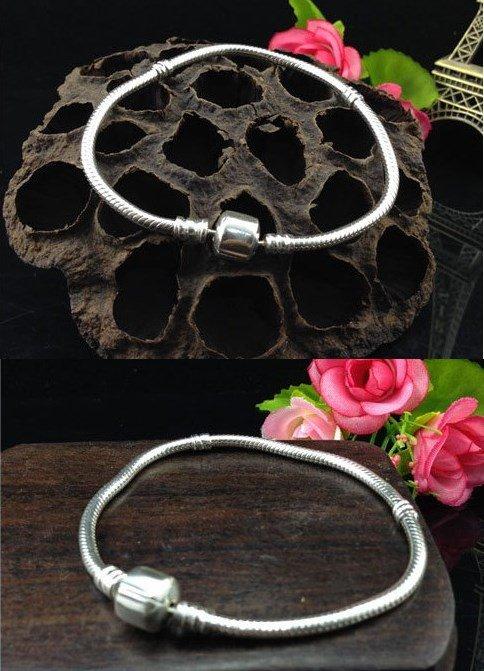 Серебряное покрытие 925 проба основа для браслета для Pandora