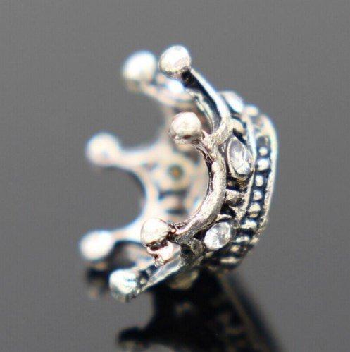 """Серебряное покрытие 925 проба подвеска-шарма для Pandora """"Crown"""""""