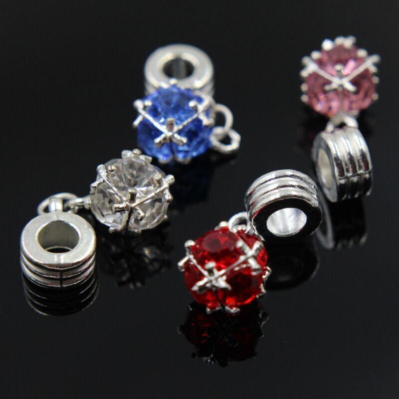 """Серебряное покрытие 925 проба подвеска-шарма для Pandora """"Crystal"""""""