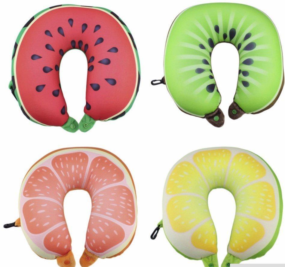 """подушка подголовник с карабином """"Fruit"""""""