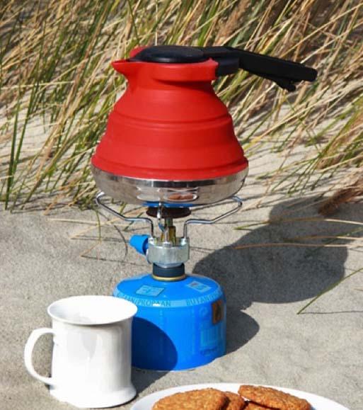 Складной силиконовый чайник