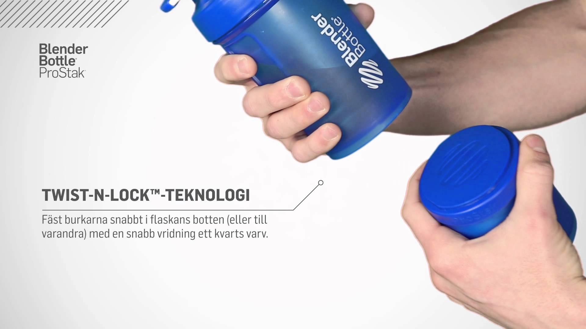 Шейкер с контейнерами (Blender Bottle) ProStak 600мл