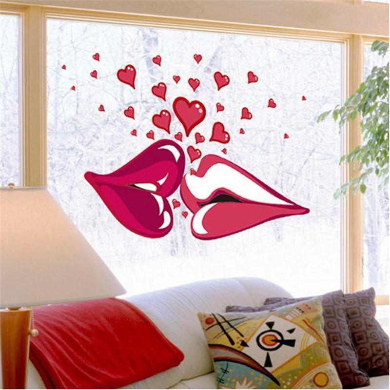 "Интерьерная наклейка на стену ""Kiss"""
