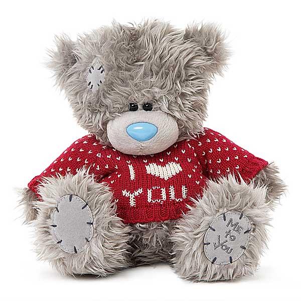 Мишка Me To You в красной кофточке I LOVE YOU