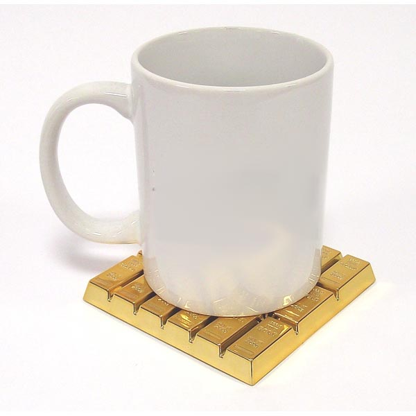 Подставка под чашку слиток золота