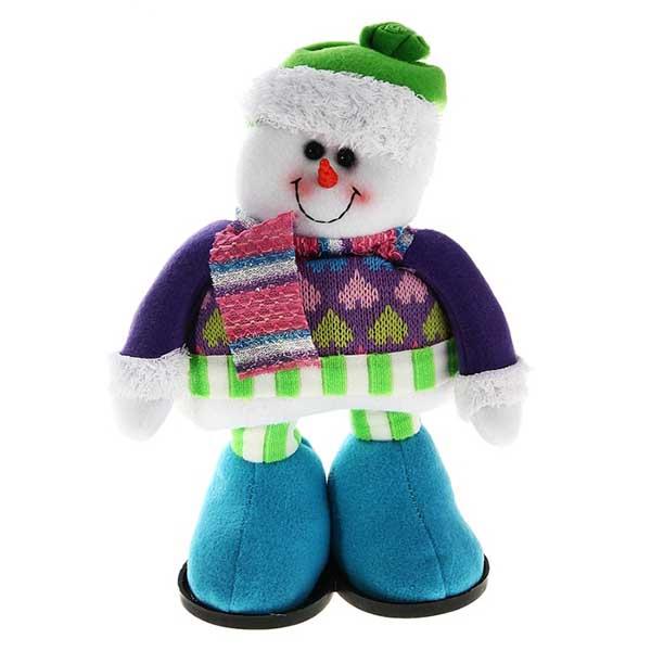 Мягкая игрушка Снеговик в голубых валенках