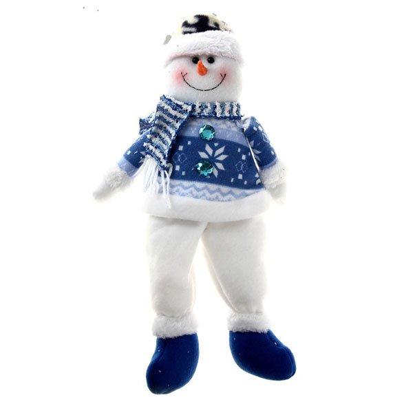 Мягкий снеговик с подарком, 50 см