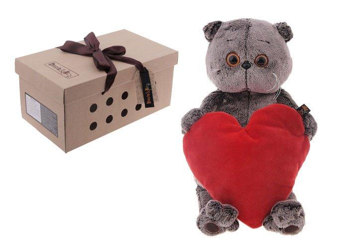 Мягкая игрушка Басик с сердечком